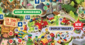 Detalhe do mapa do Legoland com identificação do Baby Center